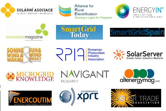 ENERCOUTIM, ARE, EnergyIN, renovaveis magazine, Smart Grid Today, SmartGrid Spain, Sun & Wind Energy, RPIA, SolarServer, Microgrid Knowledge, Navigant Research, CZEPHO, Solar Trade